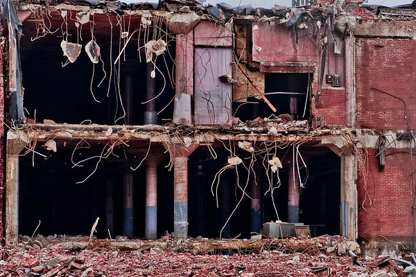 The demolition of Emge meat packing plant.  It looks so much better now!<br /> <br /> Photographer's Name: Terry Ayers<br /> Photographer's City and State: anderson, IN