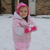 Abbys first time playing in the snow