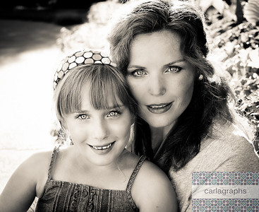 Julie and CeCe 8x10 bw-