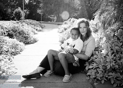 Mom and Dwayne bw-