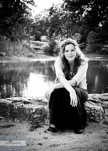 Julie on the Water Vintage bw-