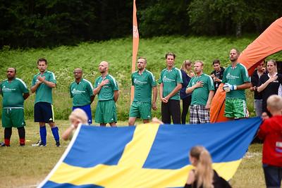 Nationalsången innan matchen - Föreståndarna