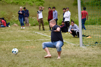 Fotbollsmatch på Rutan
