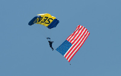 The Ocean City Airshow started with great antisipation for me as I watched a Navy Seal bring the Flag down. It was inspiring.