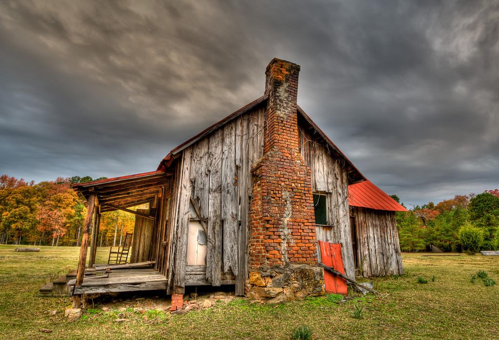 Old share cropper shack, Barlow property near Griffin, GA