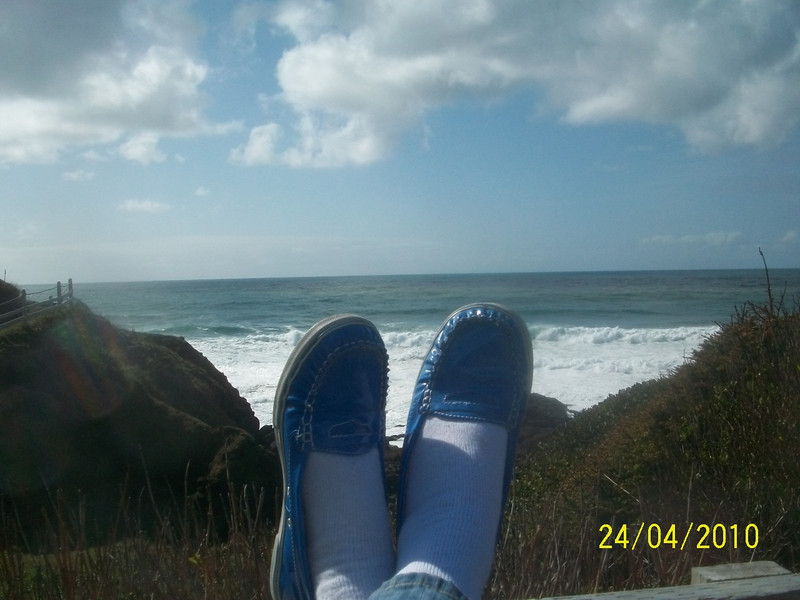 You can never have too many shoe shots with the ocean as a backdrop.