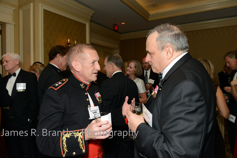 "US Marine Corps Major General Richard Lake, George Pappas<br /> <br /> The OSS Society presents the William J. Donovan Award to former CIA Director Bill Gates at the Ritz-Carlton Hotel in Washington, DC on Saturday, October 27, 2012.  The OSS (Office of Strategic Services) was the World War II era predecessor of today's Central Intelligence Agency.  The award is named for the first head of the OSS, William ""Wild Bill"" Donovan.    (James R. Brantley)"