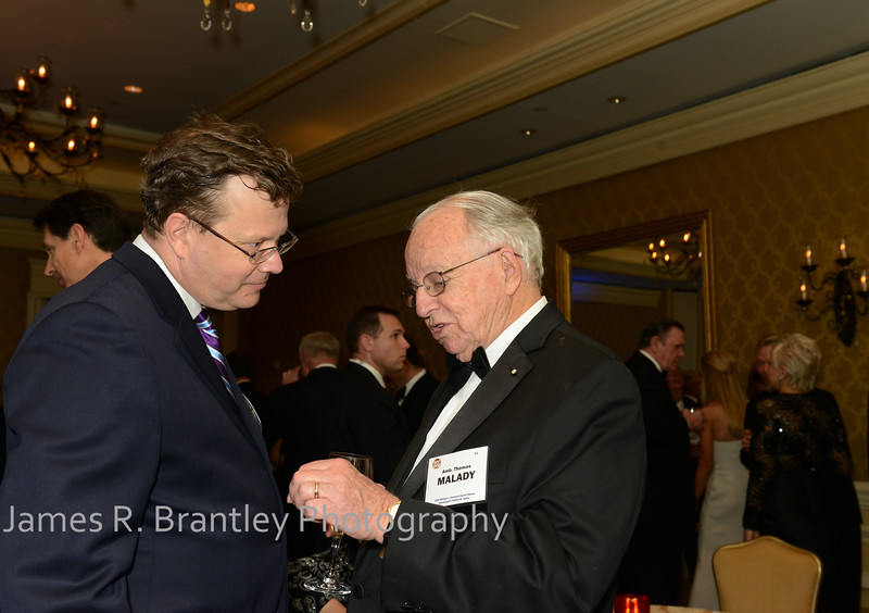 """Peter Schweizer, Ambassador Thomas Malady<br /> <br /> The OSS Society presents the William J. Donovan Award to former CIA Director Bill Gates at the Ritz-Carlton Hotel in Washington, DC on Saturday, October 27, 2012.  The OSS (Office of Strategic Services) was the World War II era predecessor of today's Central Intelligence Agency.  The award is named for the first head of the OSS, William """"Wild Bill"""" Donovan.    (James R. Brantley)"""