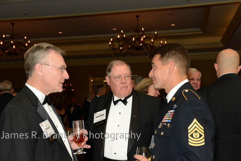 """Dan Dailey, Hoard Trauger, Command Sergeant Major Luis A. Pauka.<br /> <br /> The OSS Society presents the William J. Donovan Award to former CIA Director Bill Gates at the Ritz-Carlton Hotel in Washington, DC on Saturday, October 27, 2012.  The OSS (Office of Strategic Services) was the World War II era predecessor of today's Central Intelligence Agency.  The award is named for the first head of the OSS, William """"Wild Bill"""" Donovan.    (James R. Brantley)"""