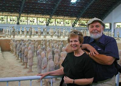 Terracotta Warriors Pit 1, Terracotta Army Museum, Xian China