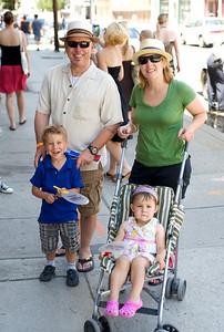 The Straszewski family from Chicago, IL at The OTR/Gateway Summer Celebration