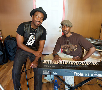 Mr. Reed and Jameze of E. NY, Brooklyn perform at one of the shops in the Gateway Quarter for the The OTR/Gateway Summer Celebration