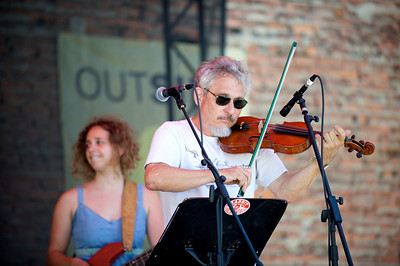 Lagniappe, Cincinnati's only Cajun Gypsy New Orleans Jazz band performs at The OTR/Gateway Summer Celebration