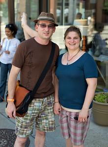 Bob and Erin Marie Schwartz of Downtown at The OTR/Gateway Summer Celebration
