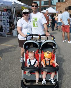 Jill, Mark, Pippa and Truman Ragase at The OTR/Gateway Summer Celebration