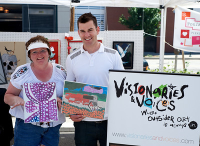 Gena Grunenberg and Nick Paddock of Visionaries and Voices at The OTR/Gateway Summer Celebration