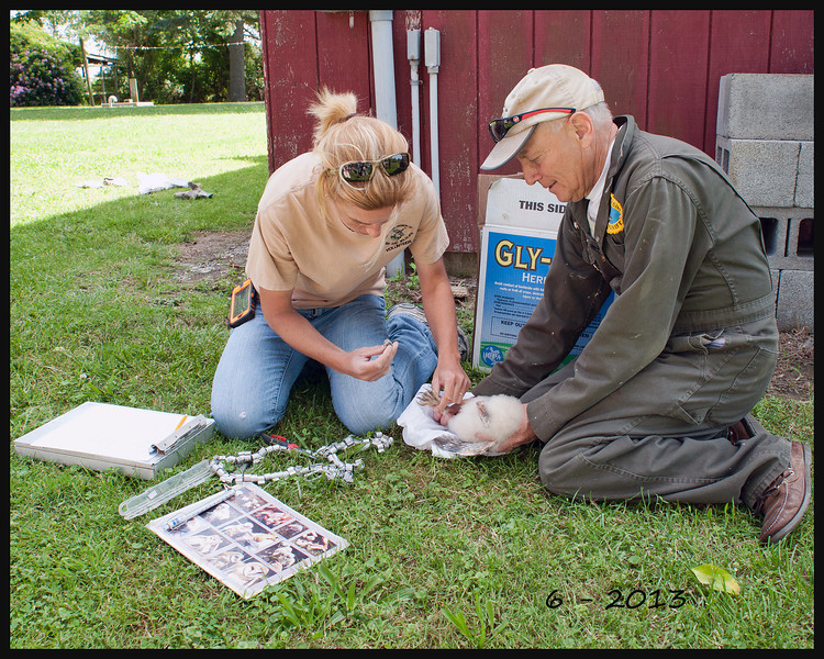 Marnie Pepper & Wayne Lehman, a retired Fish and Wildlife Manager for the Delaware Division of Fish and Wildlife