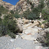 In Oak Creek wash.  There are many large boulders to climb around or over.
