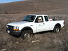 Iconic Oak Habitat Restoration Project co-founder Ralph Kraetsch in his iconic white Ford pickup.
