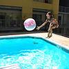 Alana jumps for ball.