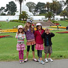 The cousins have fun in front of the SF Arboritum.