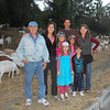 The family enjoys a sunset stroll to the goats fire prevention area up the street.
