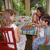 Chinese checkers after breakfast.