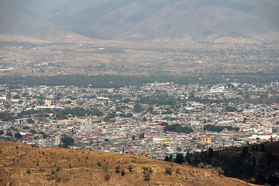 view of oaxaca city from monte alban