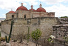 of course, the spanish built the church on top of the zapotec temple, and even used some of the stones. jerks