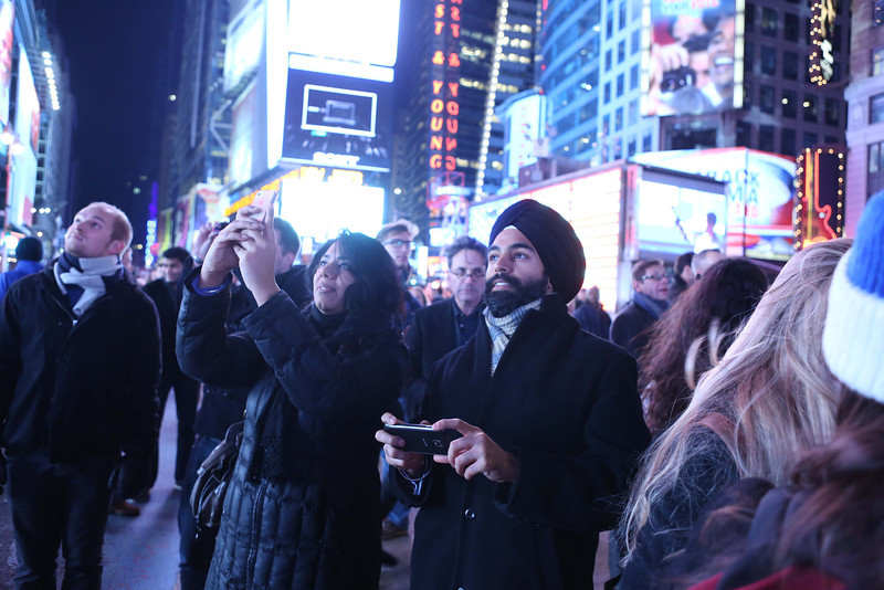 New Yorks' Times Square Celebrates President OBAMA's four more years after he declare elected for 2012 on nov 6th 2012...pic Mohammed Jaffer-SnapsIndia
