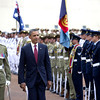 Guard of honor in Canberra Australia's National Capital