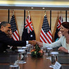 USA President Barack Obama and Australian Prime Minister Julia Gillard