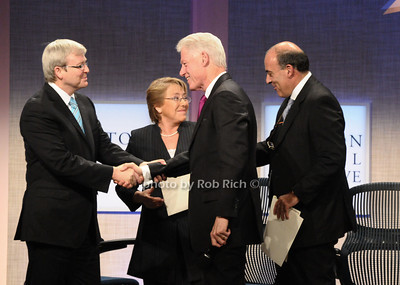 Kevin Rudd, Michelle Bachelet,Bill Clinton, Muhtar Kent photo by Rob Rich © 2009 robwayne1@aol.com 516-676-3939