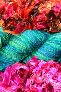 Ghastly isn't it - taken as an exercise of horribleness in colour. Knitters love this picture. Just goes to show.