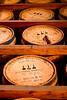 """19 October 2006.  I met a friend at Woodford Reserve Distillery in Versailles KY for a tour.  These barrels are stacked while they age.  The brown stuff coming from the second barrel up is where the lid was plugged after a tester drew some product.  More pics in  <a href=""""http://mefford.smugmug.com/gallery/1944471"""">second page current events</a>."""