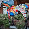 "Sharon Crute's Horse Fever statue, ""Champ,"""