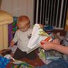 Nathan opening Birthday presents