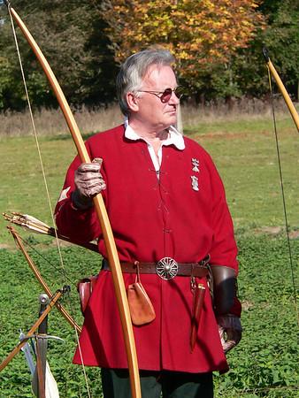 October 2009 - Bodiam Archery, Warwick re-enactors market, Leamington Spa days out