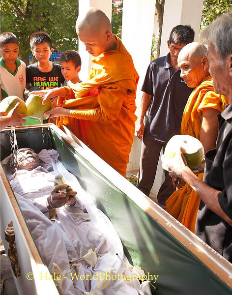 Grandson Washes His Uncle's Corpse With Coconut Water