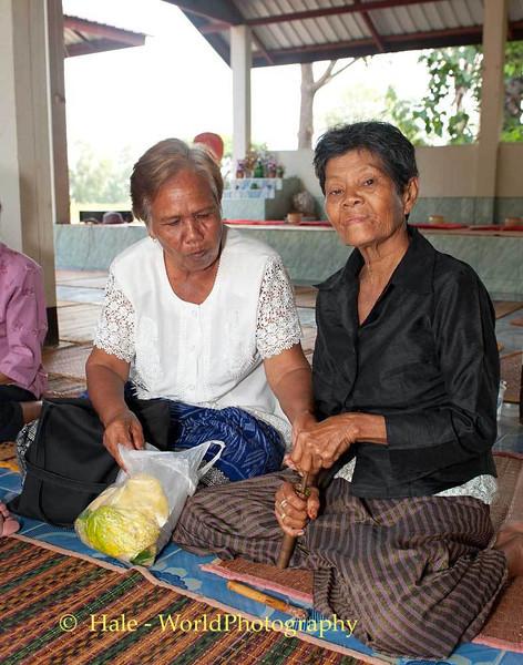 Two Elderly Lao Loum Women Prepare to Chew Some Betelnut