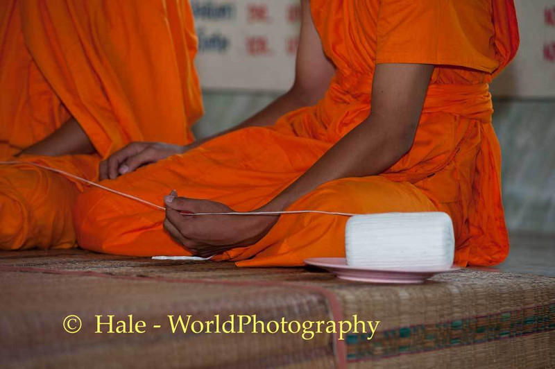 Daisaisin Held By Monk's Hands