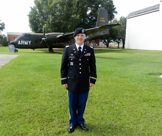 My son, Craig Adams, at Warrant Officer Graduation in Fort Rucker, Ala.<br /> <br /> Photographer's Name: Diana Adams<br /> Photographer's City and State: Frankton, Ind.