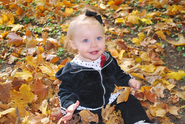 My great-niece Makayla playing in the leaves for the first time.<br /> <br /> Photographer's Name: Jenee Wilber<br /> Photographer's City and State: Anderson, Ind.