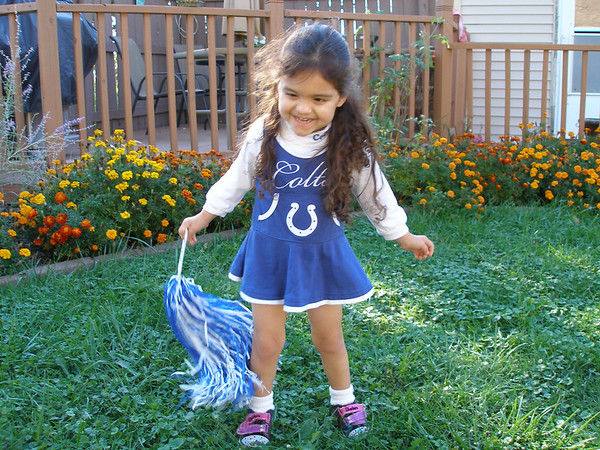 Anderson residents Don and Patricia Hamilton uploaded this photo of there daughter Madison showing her Colts spirit. GO COLTS!<br /> <br /> Photographer's Name: Don Hamilton<br /> Photographer's City and State: Anderson, Ind.