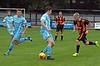 Luke Barbour backheels the ball against Huntly