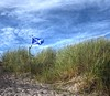 Flag at Lossiemouth beach on Monday 3rd October