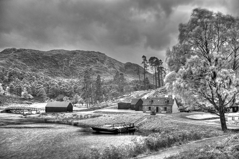 An Infra red shot of the cottage at the end of the road at Glen Affric on Monday 23rd October