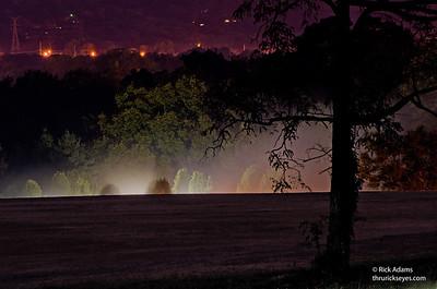 Mist Over Memorial Gardens at Christ Church