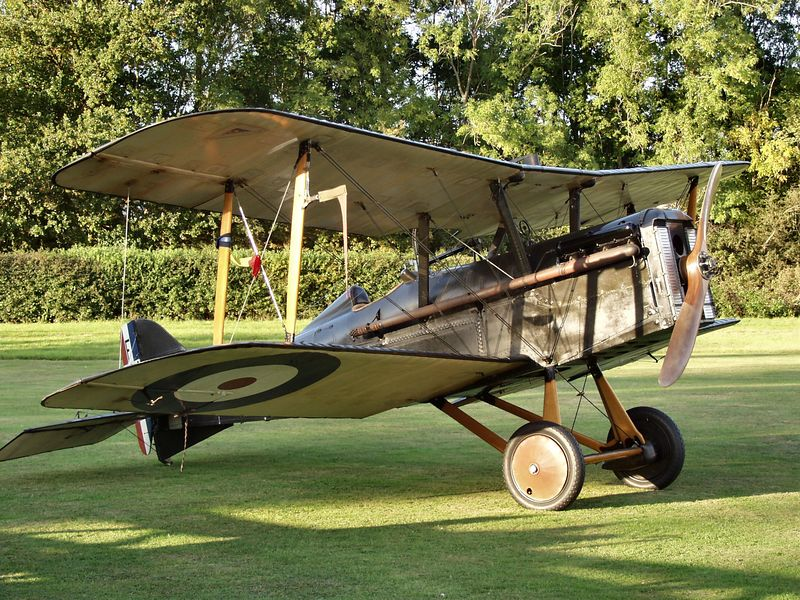 A 1917 Roal Aircraft Factory SE 5a at the Old Warden airfield after giving a flying display late one afternoon. The airfield houses the Shuttleworth Collection of aircraft etc all kept flying and dating from a 1909 Bleriot XI. Old Warden is just up the road from Duxford, by the way.