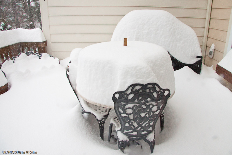 December 19, 2009: Blizzard of 2009<br /> At 4:15p, we're at 15½ inches (39 cm).